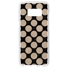 Circles2 Black Marble & Sand (r) Samsung Galaxy S8 White Seamless Case by trendistuff