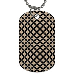 Circles3 Black Marble & Sand Dog Tag (two Sides) by trendistuff