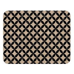 Circles3 Black Marble & Sand Double Sided Flano Blanket (large)  by trendistuff