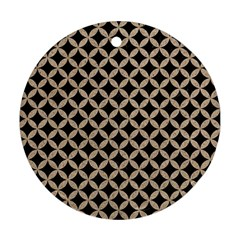 Circles3 Black Marble & Sand (r) Round Ornament (two Sides) by trendistuff