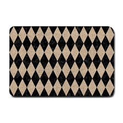 Diamond1 Black Marble & Sand Small Doormat  by trendistuff