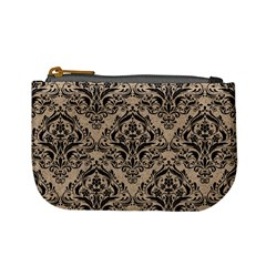 Damask1 Black Marble & Sand Mini Coin Purses by trendistuff