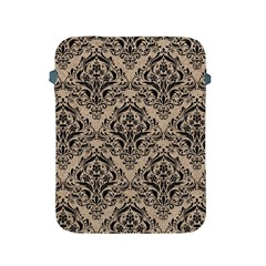 Damask1 Black Marble & Sand Apple Ipad 2/3/4 Protective Soft Cases by trendistuff