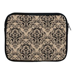 Damask1 Black Marble & Sand Apple Ipad 2/3/4 Zipper Cases by trendistuff