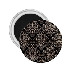 Damask1 Black Marble & Sand (r) 2 25  Magnets by trendistuff