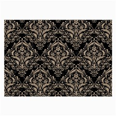 Damask1 Black Marble & Sand (r) Large Glasses Cloth by trendistuff