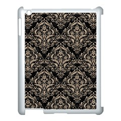 Damask1 Black Marble & Sand (r) Apple Ipad 3/4 Case (white) by trendistuff