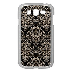 Damask1 Black Marble & Sand (r) Samsung Galaxy Grand Duos I9082 Case (white) by trendistuff
