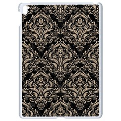 Damask1 Black Marble & Sand (r) Apple Ipad Pro 9 7   White Seamless Case by trendistuff