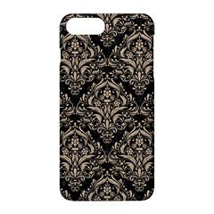 Damask1 Black Marble & Sand (r) Apple Iphone 8 Plus Hardshell Case by trendistuff