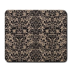 Damask2 Black Marble & Sand Large Mousepads by trendistuff