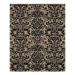 Damask2 Black Marble & Sand Shower Curtain 60  X 72  (medium)  by trendistuff