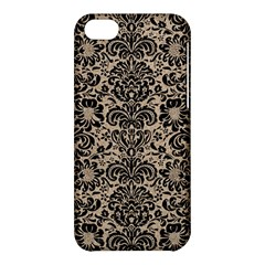 Damask2 Black Marble & Sand Apple Iphone 5c Hardshell Case by trendistuff