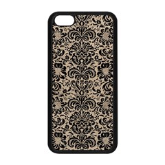 Damask2 Black Marble & Sand Apple Iphone 5c Seamless Case (black) by trendistuff
