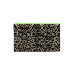 Damask2 Black Marble & Sand Cosmetic Bag (xs) by trendistuff