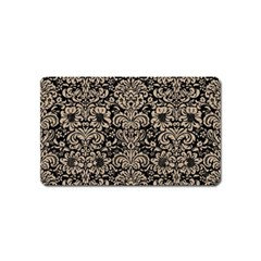Damask2 Black Marble & Sand (r) Magnet (name Card) by trendistuff