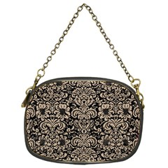 Damask2 Black Marble & Sand (r) Chain Purses (one Side)  by trendistuff