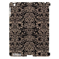Damask2 Black Marble & Sand (r) Apple Ipad 3/4 Hardshell Case (compatible With Smart Cover) by trendistuff