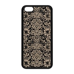 Damask2 Black Marble & Sand (r) Apple Iphone 5c Seamless Case (black) by trendistuff