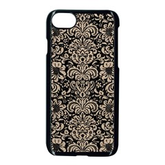 Damask2 Black Marble & Sand (r) Apple Iphone 8 Seamless Case (black) by trendistuff