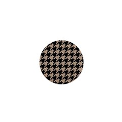 Houndstooth1 Black Marble & Sand 1  Mini Magnets by trendistuff