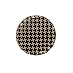 Houndstooth1 Black Marble & Sand Hat Clip Ball Marker (10 Pack) by trendistuff