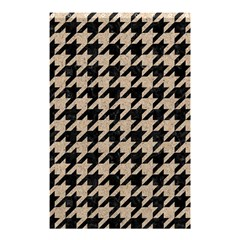 Houndstooth1 Black Marble & Sand Shower Curtain 48  X 72  (small)  by trendistuff