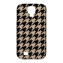 Houndstooth1 Black Marble & Sand Samsung Galaxy S4 Classic Hardshell Case (pc+silicone) by trendistuff
