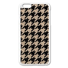 Houndstooth1 Black Marble & Sand Apple Iphone 6 Plus/6s Plus Enamel White Case by trendistuff