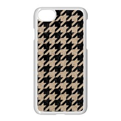 Houndstooth1 Black Marble & Sand Apple Iphone 8 Seamless Case (white)