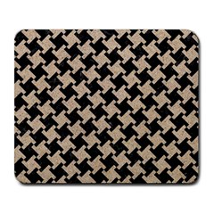 Houndstooth2 Black Marble & Sand Large Mousepads by trendistuff