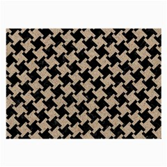 Houndstooth2 Black Marble & Sand Large Glasses Cloth by trendistuff