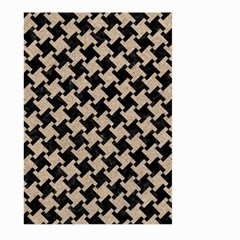 Houndstooth2 Black Marble & Sand Large Garden Flag (two Sides) by trendistuff