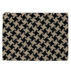 Houndstooth2 Black Marble & Sand Cosmetic Bag (xxl)  by trendistuff