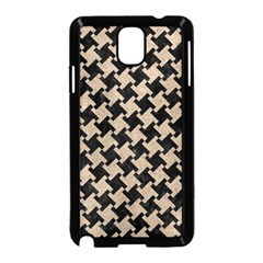 Houndstooth2 Black Marble & Sand Samsung Galaxy Note 3 Neo Hardshell Case (black)
