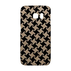 Houndstooth2 Black Marble & Sand Galaxy S6 Edge by trendistuff
