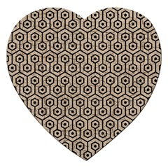 Hexagon1 Black Marble & Sand Jigsaw Puzzle (heart) by trendistuff