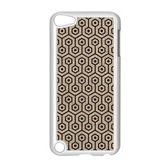 Hexagon1 Black Marble & Sand Apple Ipod Touch 5 Case (white)