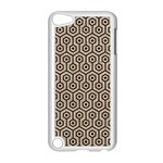 HEXAGON1 BLACK MARBLE & SAND Apple iPod Touch 5 Case (White) Front