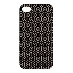 Hexagon1 Black Marble & Sand (r) Apple Iphone 4/4s Hardshell Case by trendistuff