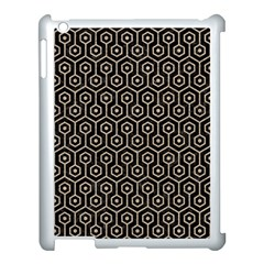 Hexagon1 Black Marble & Sand (r) Apple Ipad 3/4 Case (white) by trendistuff
