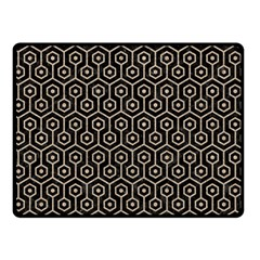 Hexagon1 Black Marble & Sand (r) Double Sided Fleece Blanket (small)  by trendistuff