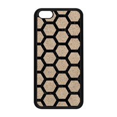 Hexagon2 Black Marble & Sand Apple Iphone 5c Seamless Case (black) by trendistuff