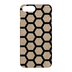 Hexagon2 Black Marble & Sand Apple Iphone 8 Plus Hardshell Case