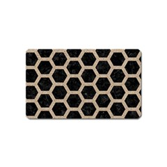 Hexagon2 Black Marble & Sand (r) Magnet (name Card) by trendistuff