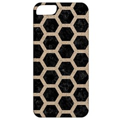 Hexagon2 Black Marble & Sand (r) Apple Iphone 5 Classic Hardshell Case by trendistuff