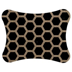 Hexagon2 Black Marble & Sand (r) Jigsaw Puzzle Photo Stand (bow) by trendistuff