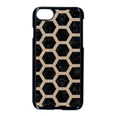 Hexagon2 Black Marble & Sand (r) Apple Iphone 8 Seamless Case (black) by trendistuff