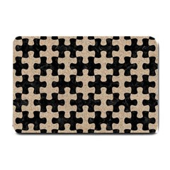 Puzzle1 Black Marble & Sand Small Doormat  by trendistuff