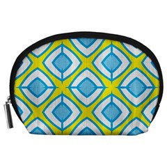 Blue Rhombus Pattern                                Accessory Pouch by LalyLauraFLM